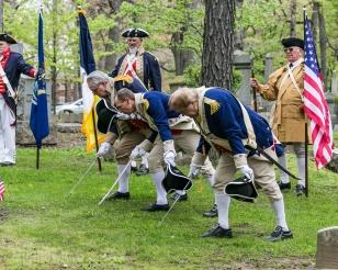 HVCSAR - Patriots Grave Marking - 14-May-2016 MISSAR Color Guard Sword Salute