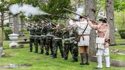 HVCSAR - Patriots Grave Marking - 14-May-2016 mISSAR Color Guard and American Legion Honor Guard.