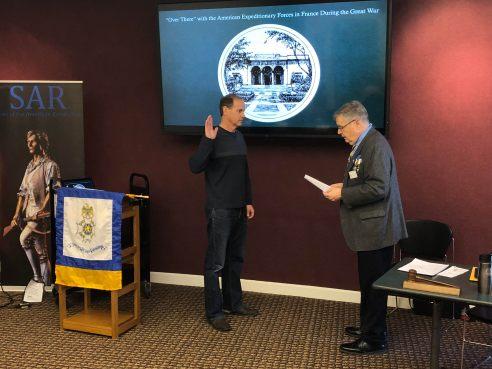 New HVC member Paul Graham is sworn in by MISSAR/HVC President Jim Petres.