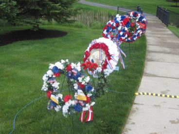 Wreaths Presented to honor the fallen.