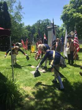 The MISSAR Color Guard does the Sword Salute