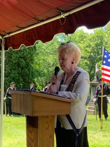 Dr Grace Smith President of the Daughters of the War of 1812 Michigan speaks