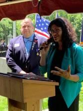 Rep. Rashida Tlaib speaks about Robinson