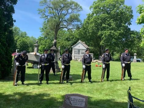 The American Legion Post Livonia Honor Guard for the June 22 2019 dedication