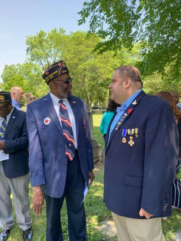 Past State of Michigan Commander Richard Chatman and Sec. Shalis both planned the dedication.