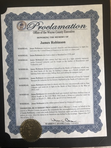 Proclamation issued by Wayne County Exec Warren Evans