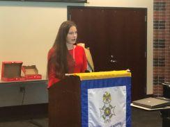 M.S.C.A.R. State President Alice Kraatz speaks about her Vietnam Honor Flight Project.