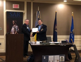 Great Lakes District VPG and HVC President Petres presents GLD Secretary and HVC Secretary Shalis with a Certificate of Appreciation.