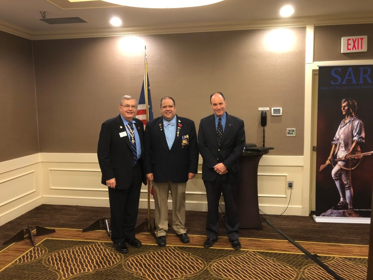 HVC members President Petres, Secretary Shalis, and Trustee Barry Puckett present at the GLD and BOM meetings (Gerald Conger, Trustee Tom Thompson, and 1st VP Mickey McGuire present but not pictured).