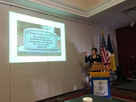 DAR member Sue Petres presents her program on Tombstone Iconography.