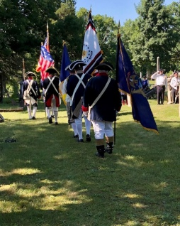 The MISSAR Color Guard retires the colors.